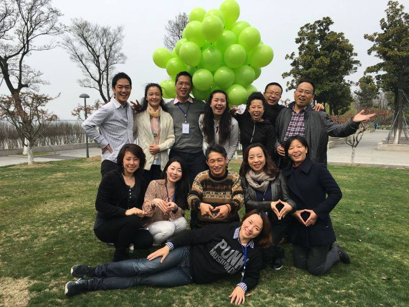 受講生と記念撮影 上海留学
