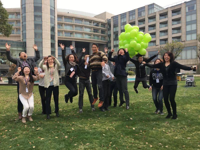 中国人とジャンプ 上海留学