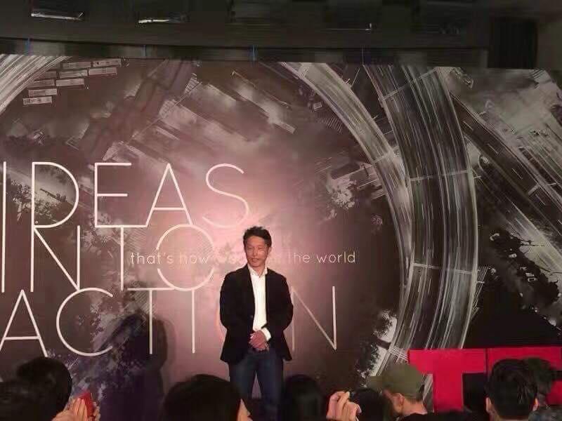TEDx上海スピーチ風景 上海留学