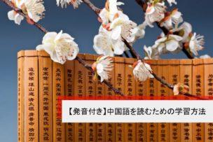 中国語を読むための学習方法 発音付